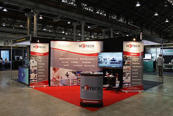 Hetech's new expo stand